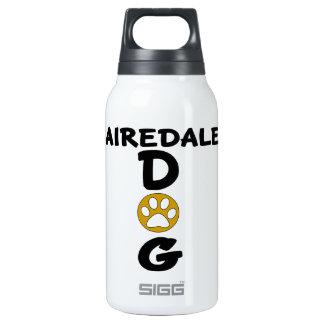 I Love My Airedale Dog Designs Insulated Water Bottle