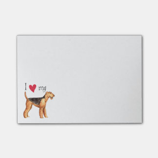 I Love my Airedale Post-it Notes