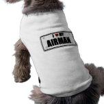 I Love My Airman Doggie Shirt