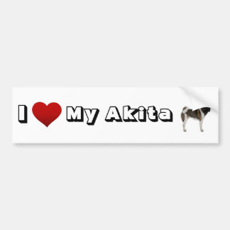 i love my akita (2) bumper sticker