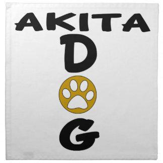 I Love My Akita Dog Designs Napkin