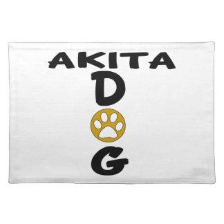 I Love My Akita Dog Designs Placemat