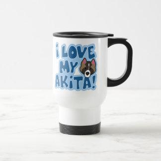 I Love My Akita Travel Mug
