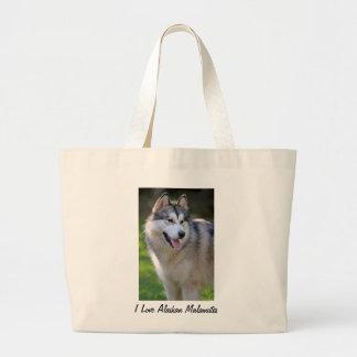 I Love My Alaskan Malamute Gifts & Novelties Jumbo Tote Bag