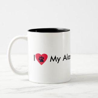 I Love My Alaskan Malamute Mug