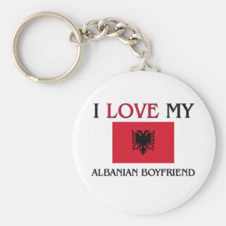 I Love My Albanian Boyfriend Keychain