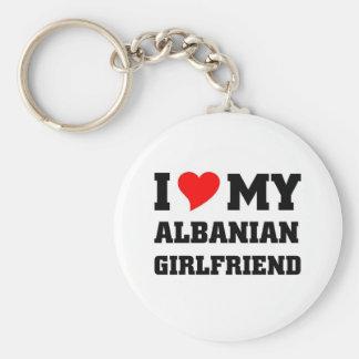 i love my albanian girlfriend basic round button keychain