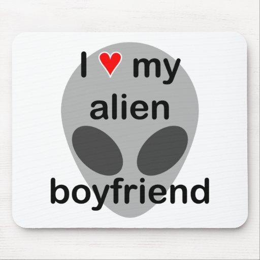 I love my alien boyfriend mouse pad