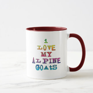 I Love My Alpine Goats Mug