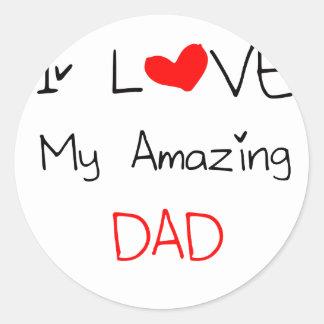 I Love My Amazing Dad Classic Round Sticker