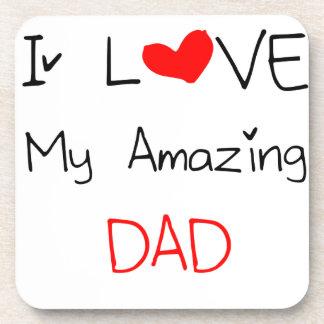 I Love My Amazing Dad Coaster