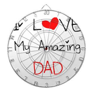 I Love My Amazing Dad Dartboard