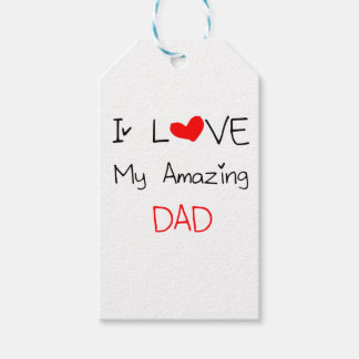 I Love My Amazing Dad Gift Tags