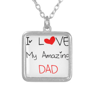 I Love My Amazing Dad Silver Plated Necklace