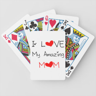 I Love My Amazing Mom Bicycle Playing Cards