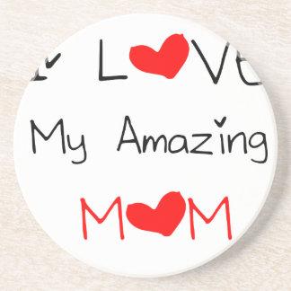 I Love My Amazing Mom Coaster