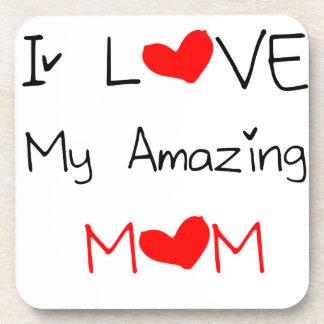 I Love My Amazing Mom Drink Coaster