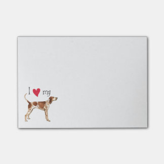 I Love my American English Coonhound Post-it Notes