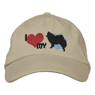 I Love my American Eskimo Dog Embroidered Hat Embroidered Baseball Caps