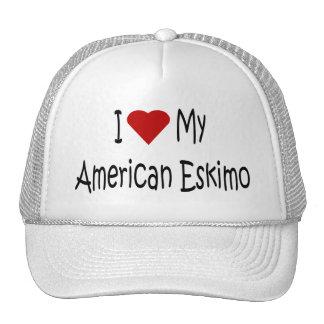I Love My American Eskimo Dog Lover Gifts Trucker Hat