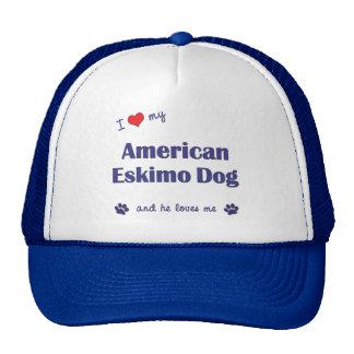 I Love My American Eskimo Dog (Male Dog) Trucker Hat