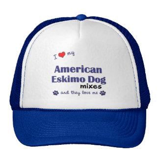 I Love My American Eskimo Dog Mixes (Multi Dogs) Trucker Hat