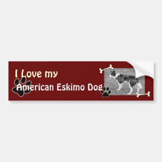 I love my American Eskimo DogBumper Sticker
