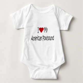 I Love My American Foxhound Dog Lover Gifts Baby Bodysuit