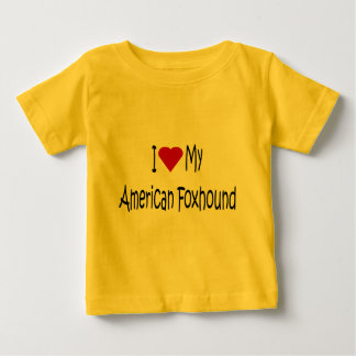 I Love My American Foxhound Dog Lover Gifts Baby T-Shirt