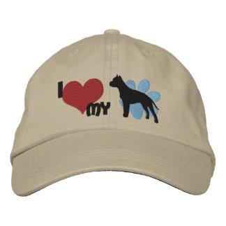 I Love my American Staffordshire Terrier Baseball Cap