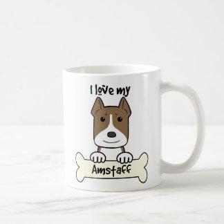 I Love My Amstaff Coffee Mug