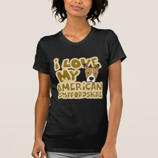 I Love My AmStaff Women's Twofer Shirt