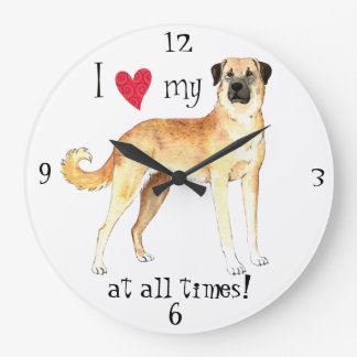 I Love my Anatolian Shepherd Dog Large Clock
