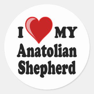 I Love My Anatolian Shepherd Dog Round Sticker
