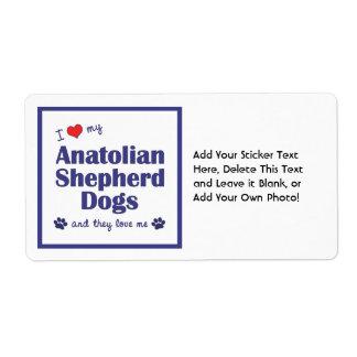 I Love My Anatolian Shepherd Dogs (Multiple Dogs) Shipping Label