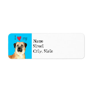 I Love my Anatolian Shepherd Return Address Label
