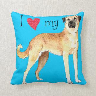 I Love my Anatolian Shepherd Throw Pillow