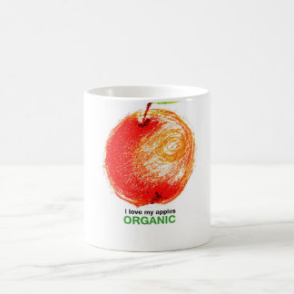 I love my apples organic coffee mug