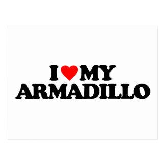 I LOVE MY ARMADILLO POST CARDS