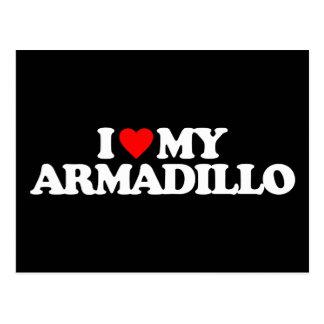 I LOVE MY ARMADILLO POSTCARDS