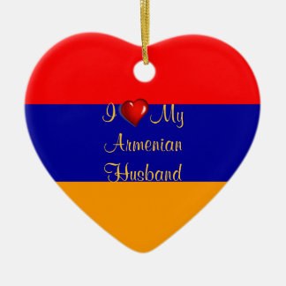 I Love My Armenian Husband Ceramic Ornament