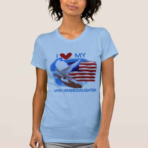I Love My Army Granddaughter Tshirts and Gifts