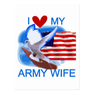 I Love My Army Wife Tshirts and Gifts Post Cards