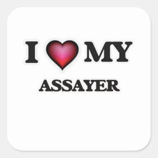 I love my Assayer Square Sticker