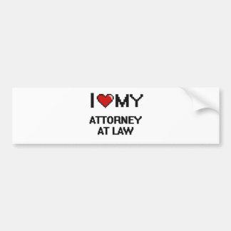 I love my Attorney At Law Bumper Sticker