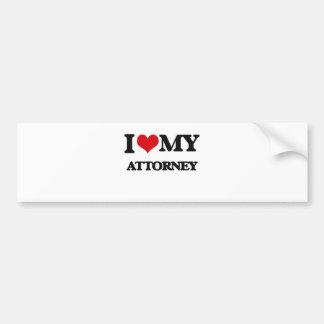 I love my Attorney Bumper Sticker