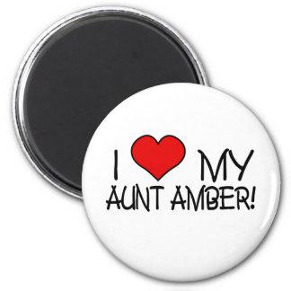I Love My Aunt Amber 2 Inch Round Magnet