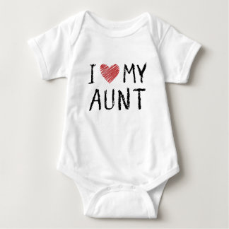 I Love My Aunt Baby Bodysuit