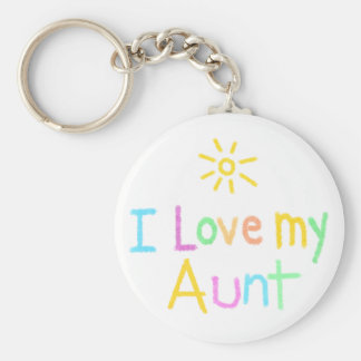 I love my Aunt Basic Round Button Keychain