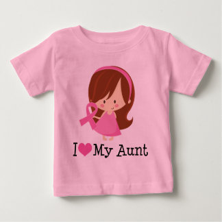I Love My Aunt Breast Cancer Ribbon Shirts